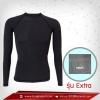 ชุดดำน้ำ แขนยาวคอกลม สีดำ รุ่น Extra (สุดยอดผ้ายืดผิวผ้าลื่น) Size พิเศษ 2XLสินค้าหมดชั่วคราว