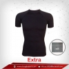 เสื้อรัดกล้ามเนื้อ Body Fit แขนสั้นคอกลมสีดำ รุ่น Extra (สุดยอดผ้ายืดผิวผ้าลื่น)