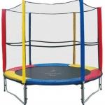 แทรมโพลีน 8 ฟุต สีรุ้ง เสารุ้ง สปริงบอร์ด trampoline เครื่องออกกำลังกายเพิ่มความสูง รับน้ำหนักได้ถึง 150 kg