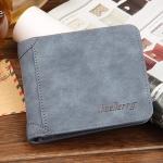( ลดล้างสต๊อค ) WS09-Blue กระเป๋าสตางค์ใบสั้น แนวนอน กระเป๋าสตางค์ผู้ชาย หนัง PU เกรดเอ สีน้ำเงิน