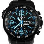 นาฬิกา Seiko Men Chronograph Solar System สายหนัง seiko ssc079P สาย Stainless รมดำ