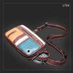 LT24 กระเป๋าสะพายไหล่ กระเป๋าคาดอก หนัง PU 4 สี เขียว ครีม เหลือง น้ำตาล