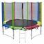 แทรมโพลีน 12 ฟุต สีรุ้ง เสารุ้ง สปริงบอร์ด trampoline เครื่องออกกำลังกายเพิ่มความสูง สำหรับ 5 คน thumbnail 1