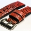 Metal Red Genuine Leather Back Lizard Leather Watch Strap Pam Buckle 24 mm thumbnail 2