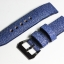Blue Genuine Leather Back Stingray Leather Watch Strap Pam Buckle 24/20 mm thumbnail 6