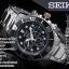 นาฬิกา Seiko Men Chronograph Solar System Diver 200m seiko ssc015P สาย Stainless black thumbnail 6